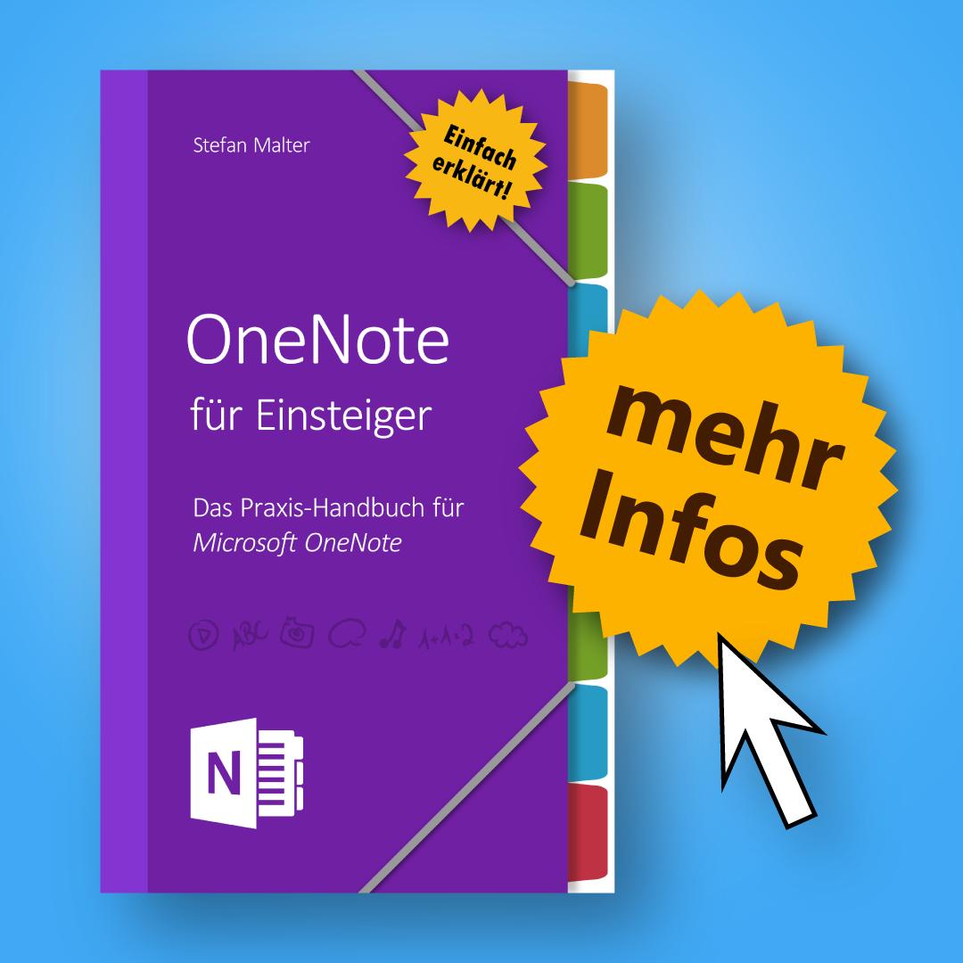 OneNote für Einsteiger - Buch-Hinweis