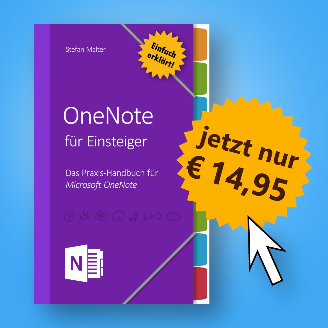 OneNote für Einsteiger - Buchhinweis mit Preis